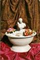 Dekorační fontána s řeckou sochou Herma