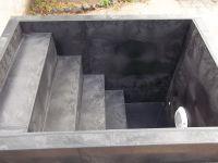 Ochlazovací kád - bazének  - se schodištěm