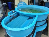 Nádrž pro chov ryb - válcové LAMIPLASTIK